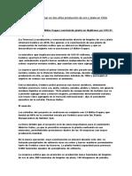 Codelco Espera Retomar en Dos Años Producción de Oro y Plata en Chile