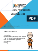 Free Six Sigma Practice Exams and Lean Study Guide From SixSigmaStudyGuide Dot Com