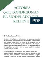 Factores que condicionan el modelamiento del relieve.