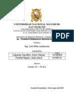 4. TRANSFORMADOR MONOFÁSICO