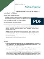 Relatório Atividade Prática 1 - Experimento de J. J. Thomson