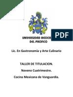 Seminario de Cocina Mexicana Alumnos.1