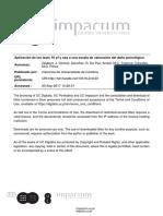 8 - Aplicación de los tests 16 pf y caq a una escala de valoración del daño psicológico