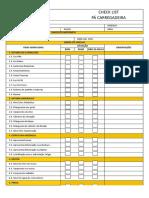 Check List - Pá Carregadeira - Anexo Plano de Ação 2017