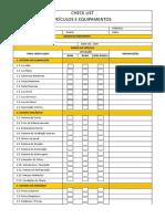 Check List - Veiculos e Equipamentos