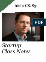 Peter Thiel's Startup PDF