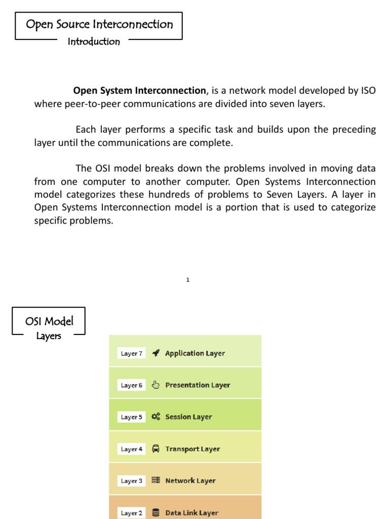 OSI Layers Ppt | Osi Model | Computer Network