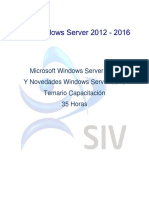 Microsoft Windows Server 2012 y Novedades Windows Server 2016