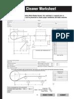 Belt Cleaner Worksheet