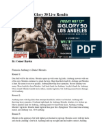 Glory 30 Live Results
