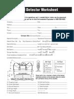 Metal Detector Worksheet