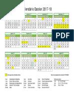 Calendario Escolar 2017-18