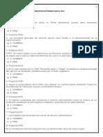 Preguntero Multiple Choice Administrativo Primer Parcial 2017