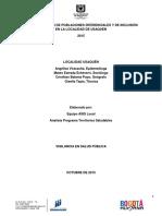 Informe de Caracterizacion Poblaciones Diferenciales Usaquen 2015
