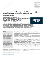 The Impact of Music Therapy on Anxiety in Cancer Patients Undergoing Simulation for Radiation Therapy