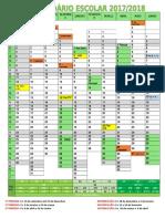 Calendário Escolar Ano Letivo 2017-2018 Final