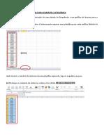 Roteiro Para Aula de Estatística No Excel - 2016.2