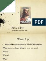 wed sept 20 bible