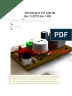 Circuito de transmissor FM potente com transistor 2n2218 até 1 KM.docx