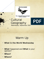 wed sept 20 geography