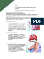 Patologia Mas Fecuente en La Salud y Sicologia