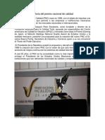 Premio Nacional de Calidad en Mexico