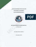 Métodos de Diseño en Ing. Mecánica - InTRODUCCIÓN - Benjamín Barriga - PUCP