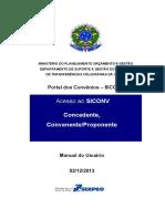 Acesso Ao SICONV Concedente Convenente Proponente