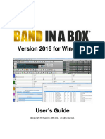 Band in a Box 2016 Manual