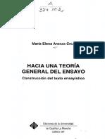 Arenas Cruz, María Elena (1997) Hacia una teoría general del ensayo (índice).pdf