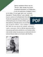 Hola Soy La Sargento Candelaria Pérez Nací en Santiago en El Año de 1810