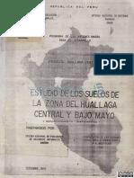 Estudio de Suelos de La Zona de Huallaga Central y Bajo Mayo