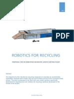 Robotics for Recycling Municipal Pilot Plant