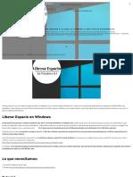 Cómo Liberar Espacio en Windows Con Este Sencillo Tip