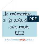 Je Memorise Ce2 Corrige Periode 2