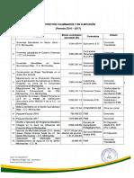 Lista de Proyectos FSM 2016 - 2017