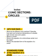 conic sections and circles 2