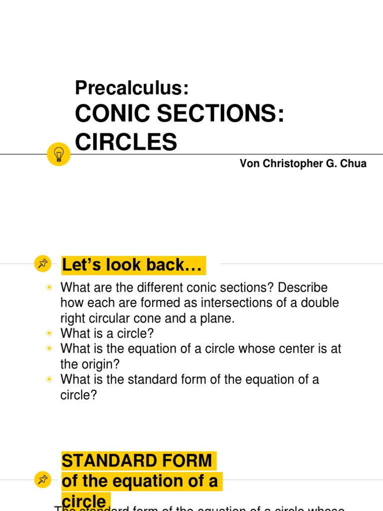 Conic sections and circles 2 circle differential geometry falaconquin