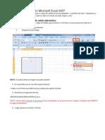 Celda Parpadeante en Microsoft Excel 2007