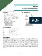 DS1804 010 Nonvolatile Trimmer Potentiometer 10K OHMS