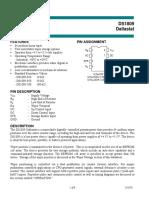 DS1809 010 64-Position Linear Taper Two Nonvolatile Wiper Storage Options 10K OHMS