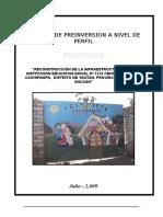 Perfil i.e.i. Nº 1576 Cachipampa