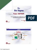 S-fase Definir Six Sigma
