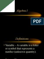 AlgebraI Review
