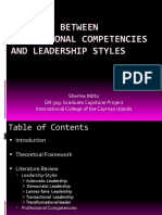 the link between professional competencies and leadership styles - final