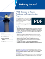 Defining Issues 16 33 Preproduction Costs