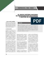 El Nuevo Sistema Nacional de Programaciu00f3n Multianual y Gestiu00f3n de Inversiones Que Reemplaza a La Ley Del Sistema Nacional de Inversiu00f3n Pu00fablica (Snip)