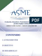 ASME 2014 - Evaluación, Integridad y Mantenimiento de recipientes a presión - G. Lobo