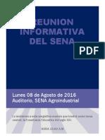 Reunion Informativa Del Sena