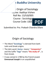 History Os Sociology Power Point 2